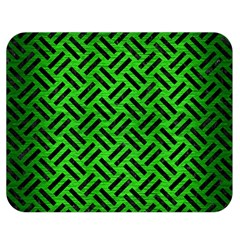 Woven2 Black Marble & Green Brushed Metal (r) Double Sided Flano Blanket (medium)