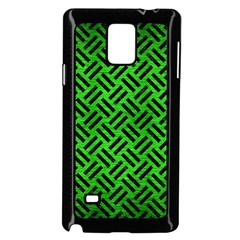 Woven2 Black Marble & Green Brushed Metal (r) Samsung Galaxy Note 4 Case (black)