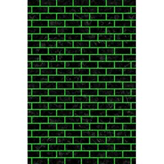 Brick1 Black Marble & Green Colored Pencil 5 5  X 8 5  Notebooks