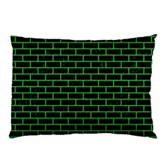 Brick1 Black Marble & Green Colored Pencil Pillow Case (two Sides)
