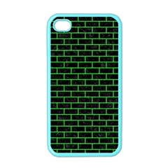Brick1 Black Marble & Green Colored Pencil Apple Iphone 4 Case (color)