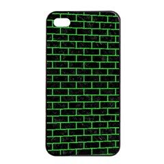 Brick1 Black Marble & Green Colored Pencil Apple Iphone 4/4s Seamless Case (black)