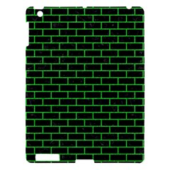 Brick1 Black Marble & Green Colored Pencil Apple Ipad 3/4 Hardshell Case