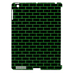 Brick1 Black Marble & Green Colored Pencil Apple Ipad 3/4 Hardshell Case (compatible With Smart Cover)