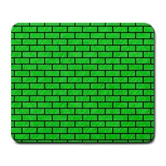 Brick1 Black Marble & Green Colored Pencil (r) Large Mousepads