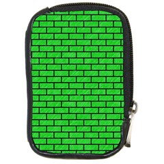 Brick1 Black Marble & Green Colored Pencil (r) Compact Camera Cases