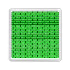 Brick1 Black Marble & Green Colored Pencil (r) Memory Card Reader (square)
