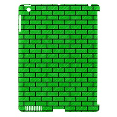 Brick1 Black Marble & Green Colored Pencil (r) Apple Ipad 3/4 Hardshell Case (compatible With Smart Cover)