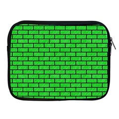 Brick1 Black Marble & Green Colored Pencil (r) Apple Ipad 2/3/4 Zipper Cases