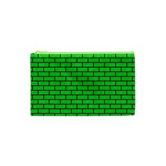 Brick1 Black Marble & Green Colored Pencil (r) Cosmetic Bag (xs)