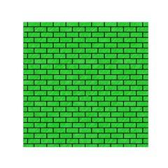 Brick1 Black Marble & Green Colored Pencil (r) Small Satin Scarf (square)