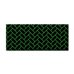 Brick2 Black Marble & Green Colored Pencil Cosmetic Storage Cases
