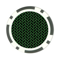 Brick2 Black Marble & Green Colored Pencil Poker Chip Card Guard (10 Pack)