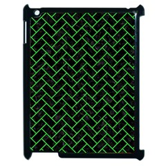 Brick2 Black Marble & Green Colored Pencil Apple Ipad 2 Case (black)