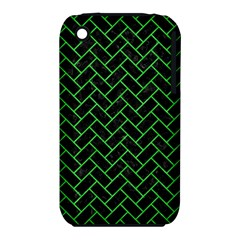 Brick2 Black Marble & Green Colored Pencil Iphone 3s/3gs