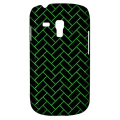 Brick2 Black Marble & Green Colored Pencil Galaxy S3 Mini