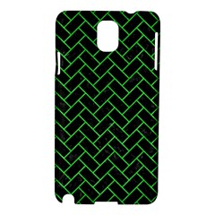 Brick2 Black Marble & Green Colored Pencil Samsung Galaxy Note 3 N9005 Hardshell Case