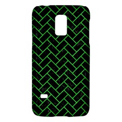 Brick2 Black Marble & Green Colored Pencil Galaxy S5 Mini