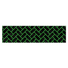 Brick2 Black Marble & Green Colored Pencil Satin Scarf (oblong)