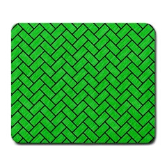 Brick2 Black Marble & Green Colored Pencil (r) Large Mousepads