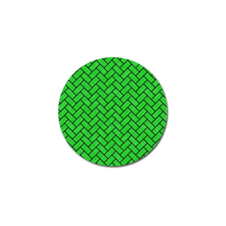 BRICK2 BLACK MARBLE & GREEN COLORED PENCIL (R) Golf Ball Marker
