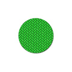 Brick2 Black Marble & Green Colored Pencil (r) Golf Ball Marker (10 Pack)