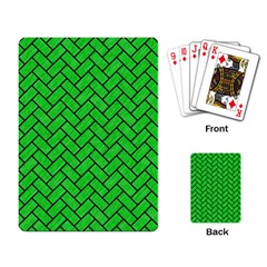 Brick2 Black Marble & Green Colored Pencil (r) Playing Card