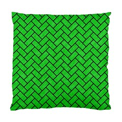 Brick2 Black Marble & Green Colored Pencil (r) Standard Cushion Case (two Sides)