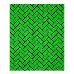 Brick2 Black Marble & Green Colored Pencil (r) Shower Curtain 60  X 72  (medium)