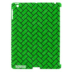 Brick2 Black Marble & Green Colored Pencil (r) Apple Ipad 3/4 Hardshell Case (compatible With Smart Cover)