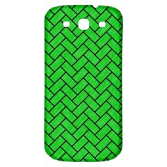 Brick2 Black Marble & Green Colored Pencil (r) Samsung Galaxy S3 S Iii Classic Hardshell Back Case
