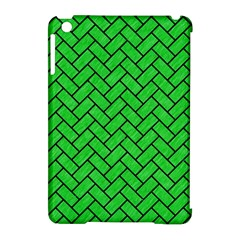 Brick2 Black Marble & Green Colored Pencil (r) Apple Ipad Mini Hardshell Case (compatible With Smart Cover)