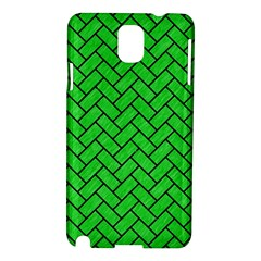 Brick2 Black Marble & Green Colored Pencil (r) Samsung Galaxy Note 3 N9005 Hardshell Case