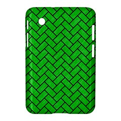 Brick2 Black Marble & Green Colored Pencil (r) Samsung Galaxy Tab 2 (7 ) P3100 Hardshell Case
