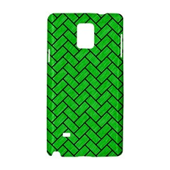 Brick2 Black Marble & Green Colored Pencil (r) Samsung Galaxy Note 4 Hardshell Case