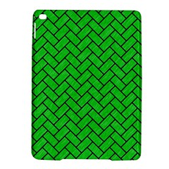 Brick2 Black Marble & Green Colored Pencil (r) Ipad Air 2 Hardshell Cases