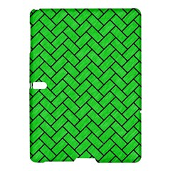 Brick2 Black Marble & Green Colored Pencil (r) Samsung Galaxy Tab S (10 5 ) Hardshell Case