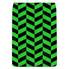 Chevron1 Black Marble & Green Colored Pencil Flap Covers (l)