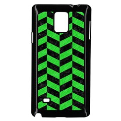 Chevron1 Black Marble & Green Colored Pencil Samsung Galaxy Note 4 Case (black)