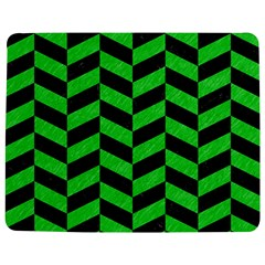 Chevron1 Black Marble & Green Colored Pencil Jigsaw Puzzle Photo Stand (rectangular)
