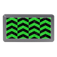 Chevron2 Black Marble & Green Colored Pencil Memory Card Reader (mini)