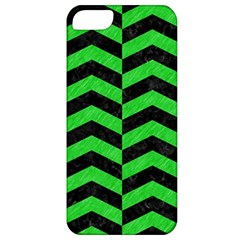 Chevron2 Black Marble & Green Colored Pencil Apple Iphone 5 Classic Hardshell Case