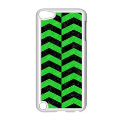 Chevron2 Black Marble & Green Colored Pencil Apple Ipod Touch 5 Case (white)