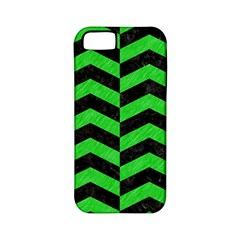 Chevron2 Black Marble & Green Colored Pencil Apple Iphone 5 Classic Hardshell Case (pc+silicone)