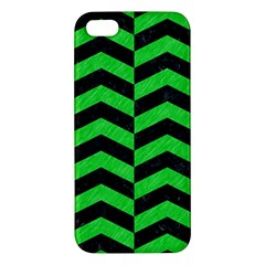 Chevron2 Black Marble & Green Colored Pencil Apple Iphone 5 Premium Hardshell Case