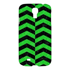 Chevron2 Black Marble & Green Colored Pencil Samsung Galaxy S4 I9500/i9505 Hardshell Case