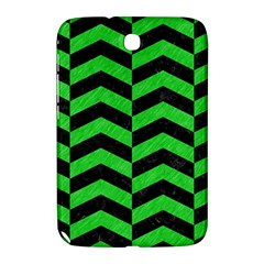 Chevron2 Black Marble & Green Colored Pencil Samsung Galaxy Note 8 0 N5100 Hardshell Case