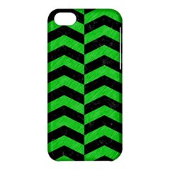 Chevron2 Black Marble & Green Colored Pencil Apple Iphone 5c Hardshell Case