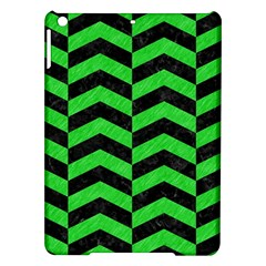 Chevron2 Black Marble & Green Colored Pencil Ipad Air Hardshell Cases
