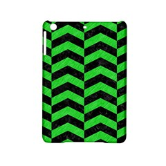 Chevron2 Black Marble & Green Colored Pencil Ipad Mini 2 Hardshell Cases